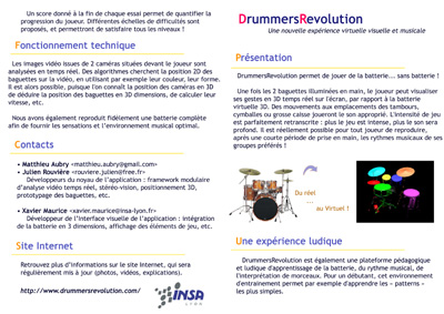 Virtual Drums presentation leaflet